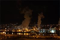 Tacoma Port Night  Departure Marchen Maersk 270309   02
